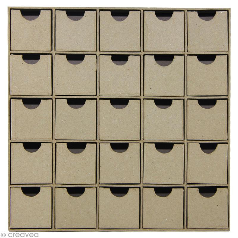 calendrier de l 39 avent en papier m ch d corer 25 x 25. Black Bedroom Furniture Sets. Home Design Ideas