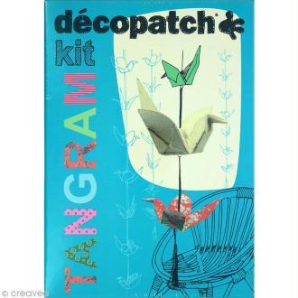 Kit créatif Décopatch - Tangram - Guirlande de grues origami