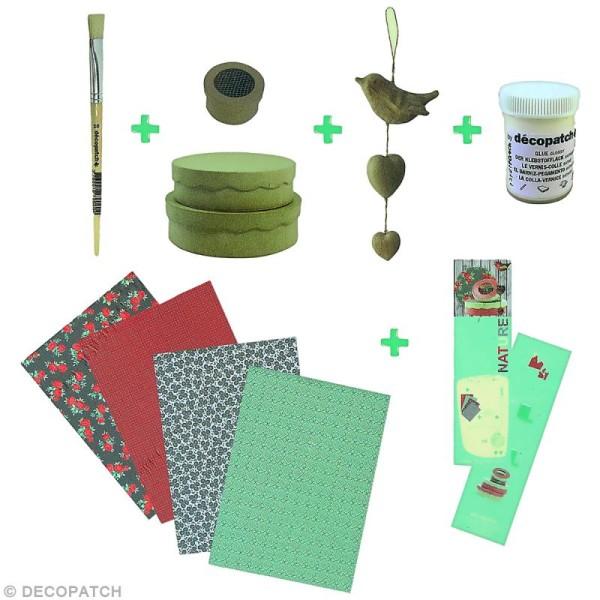 Kit créatif Décopatch - Nature - Guirlande et boîtes - Photo n°2