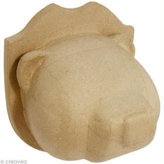 Tête de Ours en papier mâché - 25 cm