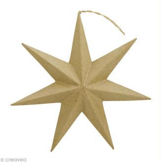 Étoile à suspendre en papier mâché - 20 cm