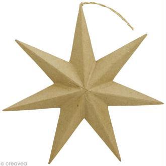 Étoile à suspendre en papier mâché - 30 cm