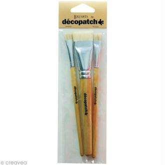 Pinceau Décopatch x 3 pcs