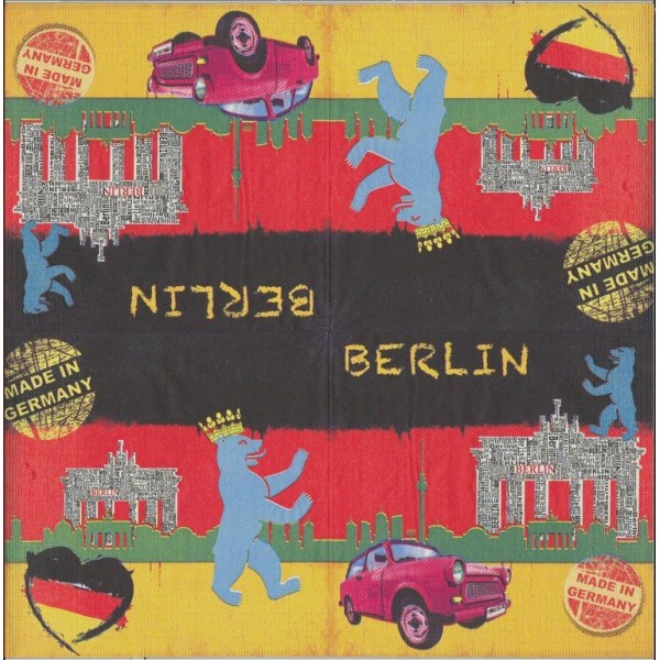 4 Serviettes en papier Berlin  Format Lunch Decoupage Decopatch 7450 PPD - Photo n°2