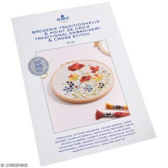 Livre DMC - Booklet n 03 - Broderie traditionnelle et point de croix - Fleurs des 4 saisons