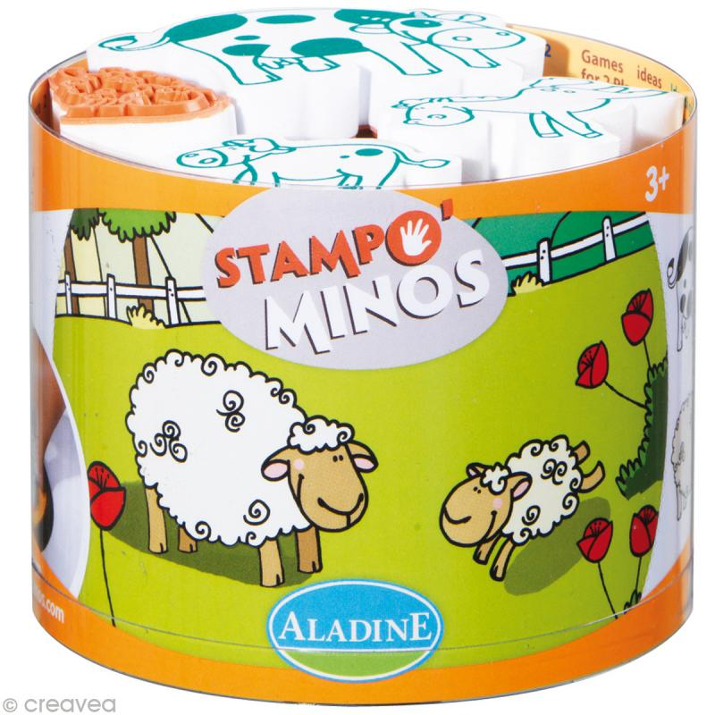 Kit 10 tampons enfant Stampo'minos Ferme - Photo n°1