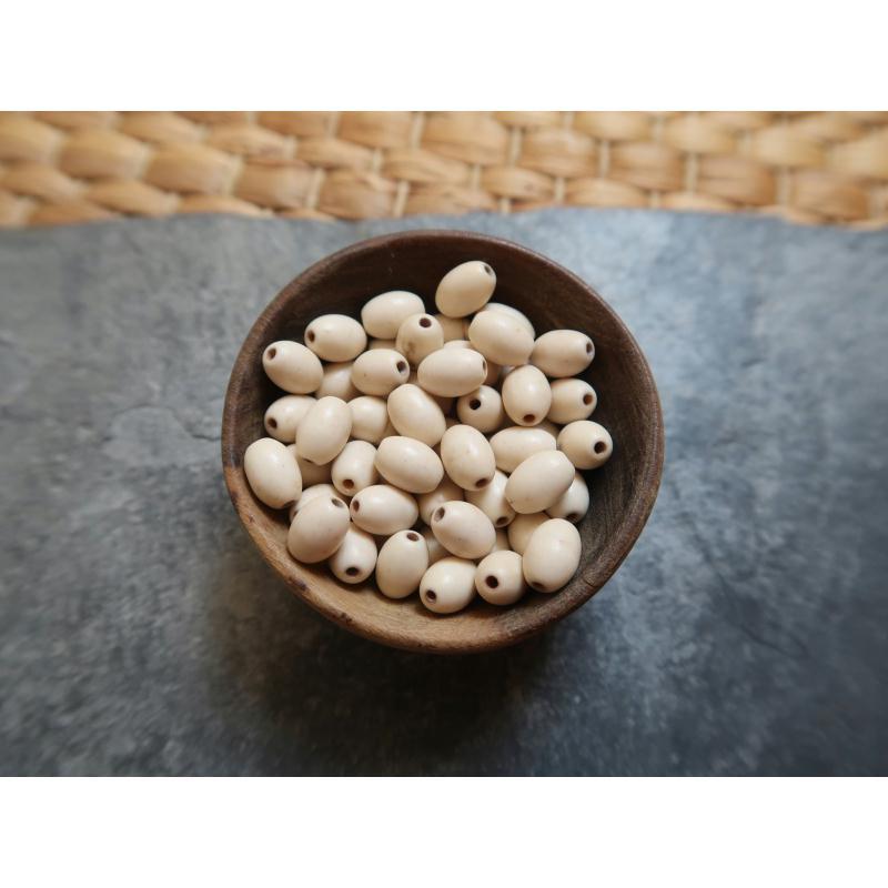 perles grains de riz perles pierre howlite perles blanches 6x3 mm 20 pcs perle pierre. Black Bedroom Furniture Sets. Home Design Ideas