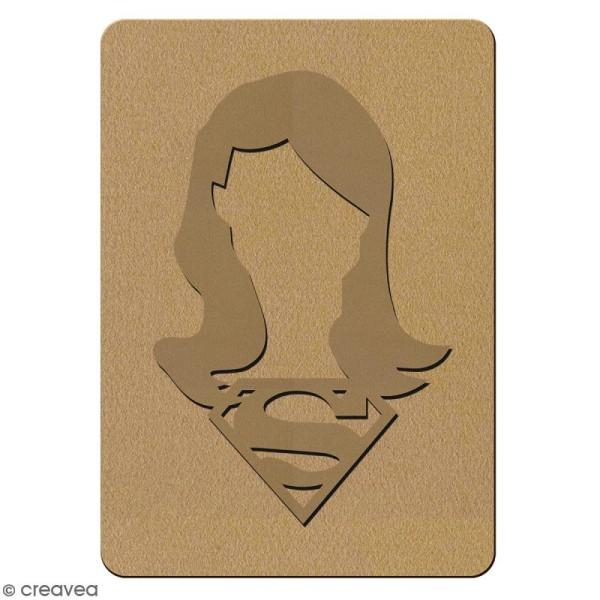 Portrait A4 en bois à décorer - Super fille - 21 x 29,7 cm - Collection Super Héros - Photo n°4
