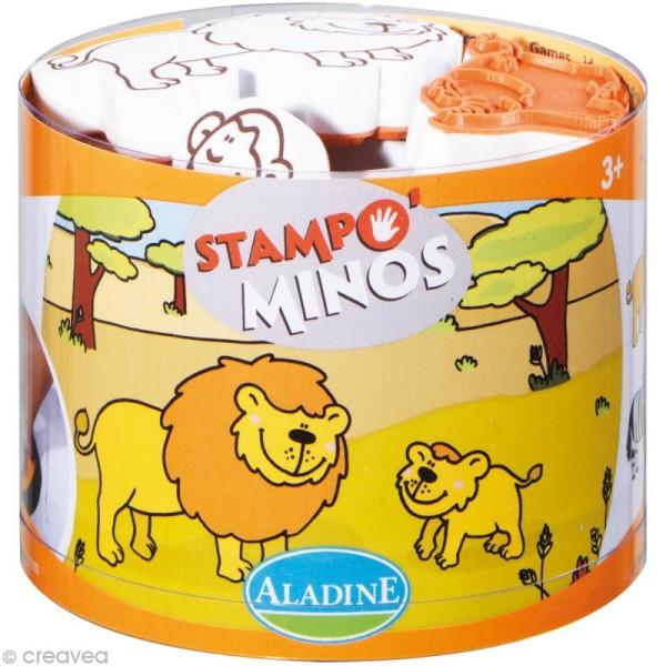 Kit 10 tampons enfant Stampo'minos Savane - Photo n°1