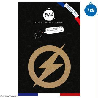 Forme en bois à décorer - Logo Homme rapide - 7 cm - Collection Super Héros