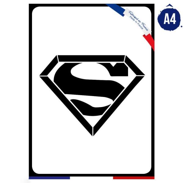 Pochoir multiusage A4 - Logo Super homme - Collection Super Héros - Photo n°1