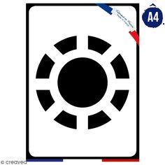 Pochoir multiusage A4 - Logo Homme de fer - Collection Super Héros
