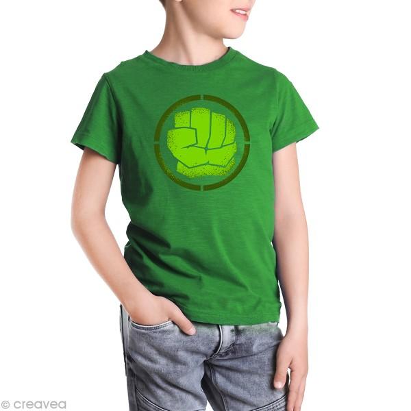 Pochoir multiusage A4 - Logo Homme vert - Collection Super Héros - Photo n°2