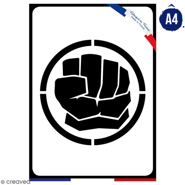 Pochoir multiusage A4 - Logo Homme vert - Collection Super Héros - Photo n°1