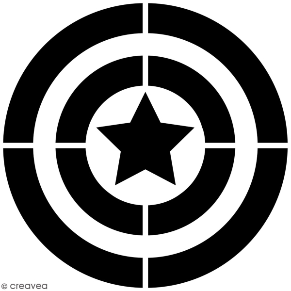 Pochoir multiusage A4 - Logo Capitaine - Collection Super Héros - Photo n°3