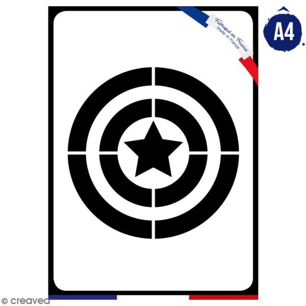 Pochoir multiusage A4 - Logo Capitaine - Collection Super Héros - Photo n°1