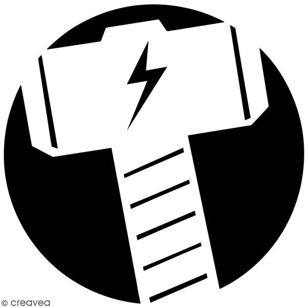 Pochoir multiusage A4 - Logo Marteau - Collection Super Héros - Photo n°3