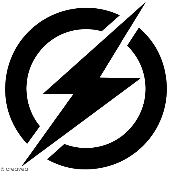 Pochoir multiusage A4 - Logo Homme rapide - Collection Super Héros - Photo n°3