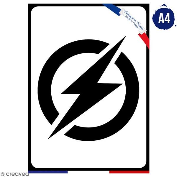 Pochoir multiusage A4 - Logo Homme rapide - Collection Super Héros - Photo n°1