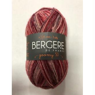 Laine goomy 50 bergère de france coloris imprim rose 29604 laine à chaussettes rose prune bordeaux