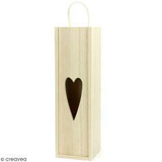 Boite à vin en bois à décorer - 10 x 35 x 10 cm
