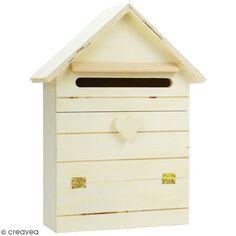 Boite aux lettres en bois à décorer - 22 x 29 cm
