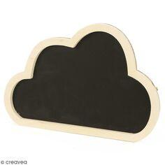 Ardoise nuage en bois à décorer - 24,7 x 16,8 cm