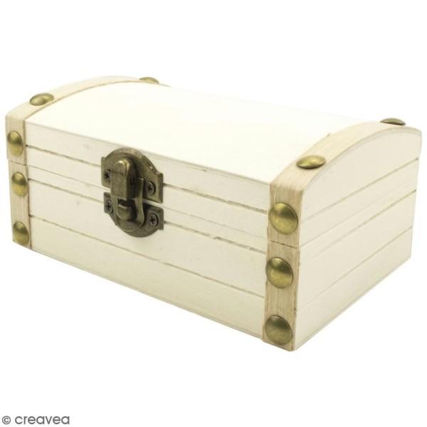 le dernier fa3a9 ebb26 Mini coffre au trésor de pirate en bois à décorer - 13 x 6 x 9 cm