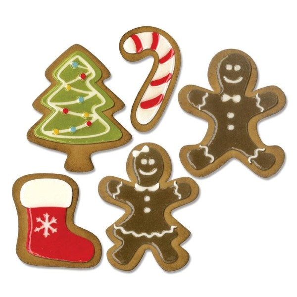 Set de matrices Sizzix Thinlits - Biscuits de Noël - 5 pcs - Photo n°2
