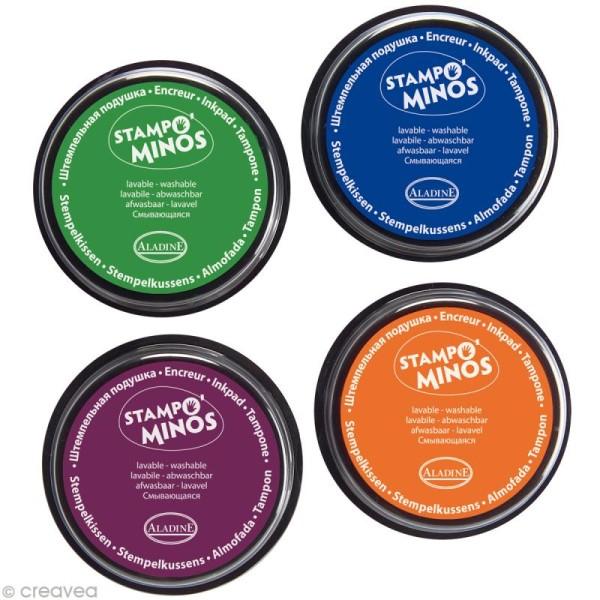 Encreur géant Stampo Colors x 4 - encre ultra lavable - Photo n°2