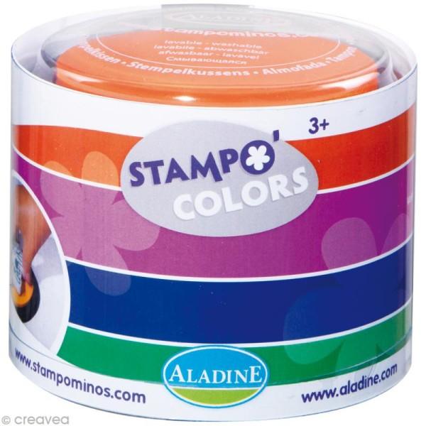 Encreur géant Stampo Colors x 4 - encre ultra lavable - Photo n°1