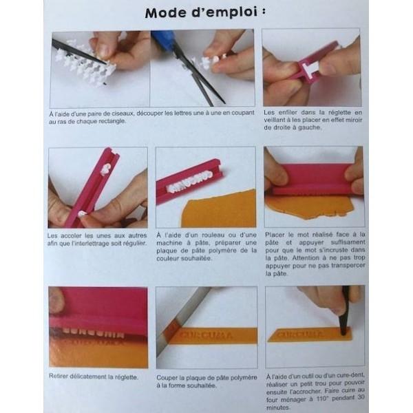 Reglette Tampon Alphabet Ideal pour Pate Polymere, fimo DTM ref 264928 - Photo n°3