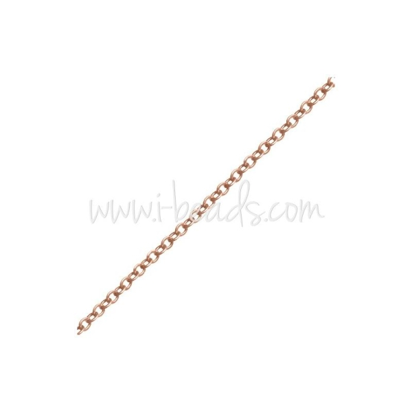 Chaine Ronde Rose Gold Filled 1.5X2Mm (10Cm) - Photo n°1