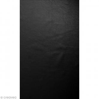 Coupon simili cuir Métallisé Noir - 50 x 30 cm