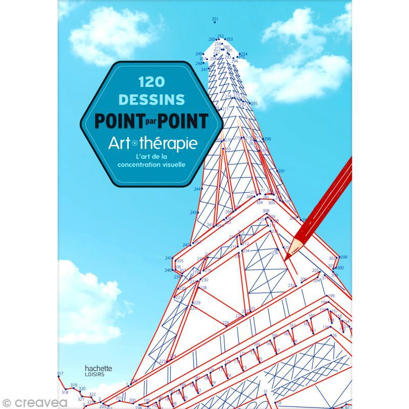 Livre dessins point par point 21 6 x 30 cm 120 jeux livre coloriage adulte creavea - Dessin point a point ...