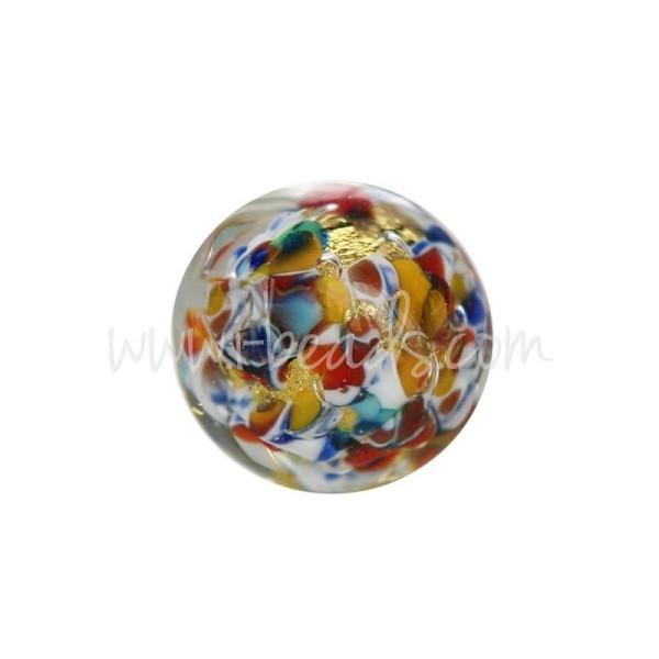 Perle De Murano Ronde Multicolore 10Mm (1) - Photo n°1