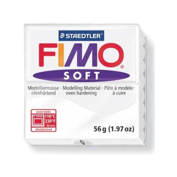 Pâte Fimo soft Blanc N°0 - 56 gr - Photo n°1