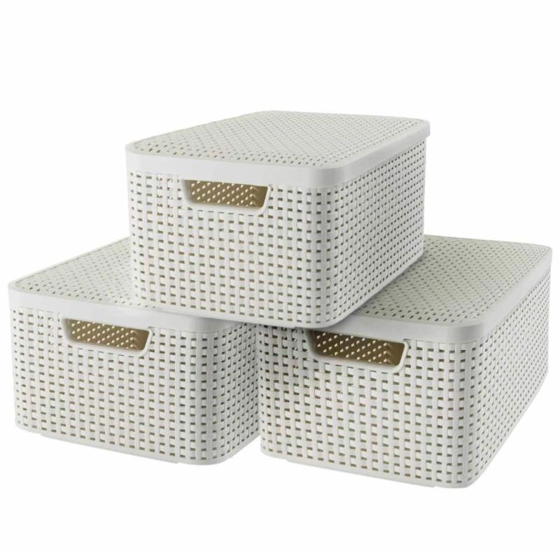 Curver Boîte De Rangement Style Avec Couvercle 3 Pcs M 33618-885-00 - Boîte de rangement ...