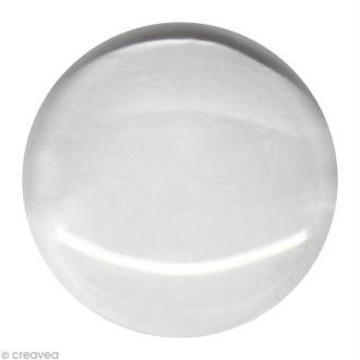 Cabochon transparent Rond en verre à l'unité - 24 mm