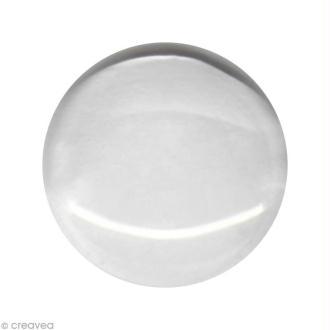 Cabochon transparent Rond à l'unité - 15 mm