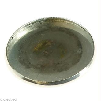 Base métallique 20 mm pour mini boule en verre 30 mm - 6 pcs