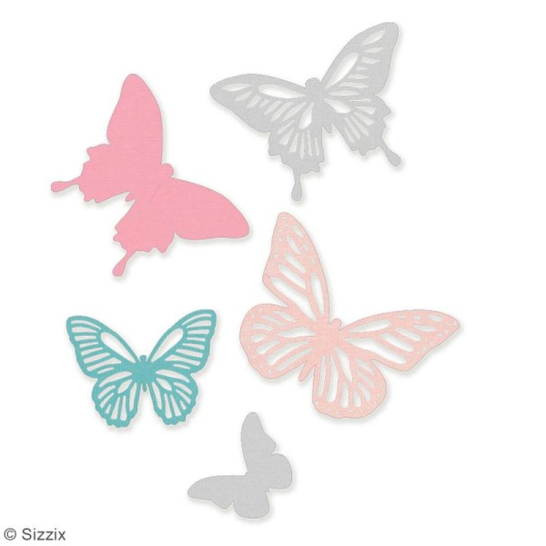 Set de matrices Sizzix Thinlits - Papillons - 5 pcs - Photo n°2