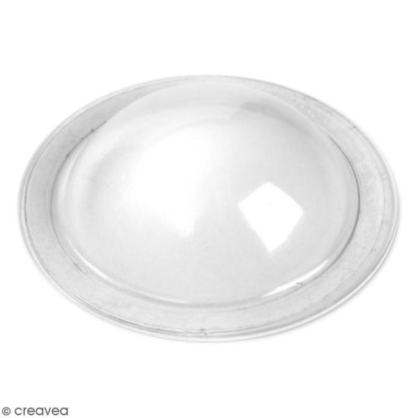 Mini dômes en plastique transparent Sizzix - 12 pcs - Photo n°1