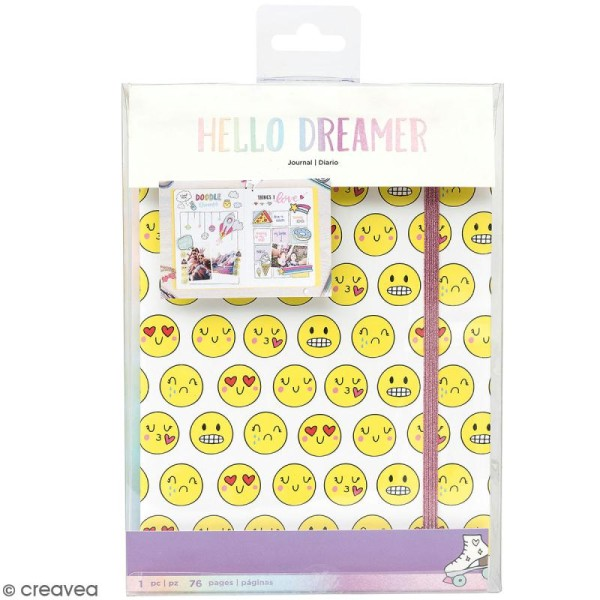 Carnet Bullet journal - Smiley - 76 pages - 15 x 21 cm - Photo n°1
