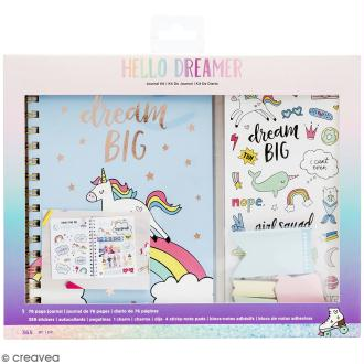 Kit Carnet Bullet journal - Licorne - 76 pages - 365 pcs