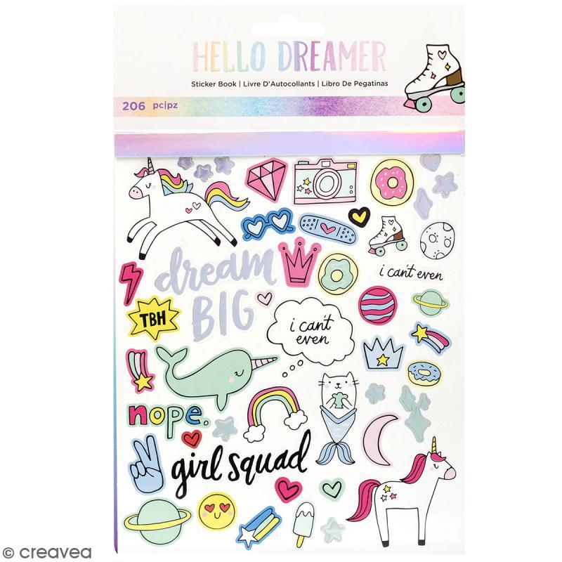 Carnet de stickers Hello Dreamer - détail foil - 206 pcs - Photo n°1