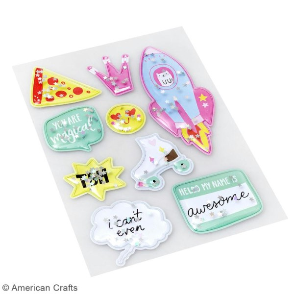 Stickers 3D Shaker box Hello Dreamer - 9 pcs - Photo n°2