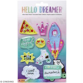 Stickers 3D Shaker box Hello Dreamer - 9 pcs