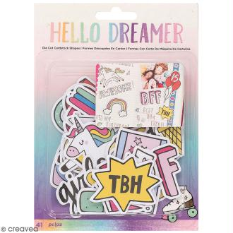 Assortiment Die cut - Hello Dreamer - 41 pcs