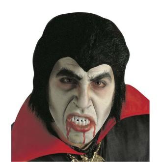 Set Dracula (perruque, dents et sang)